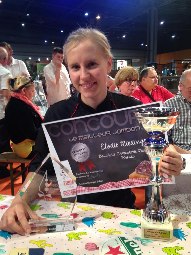 Elodie Riedinger - Médaille argent jambon cuit