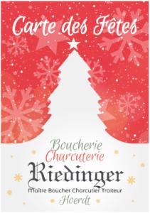 Boucherie Charcuterie Riedinger Hoerdt Carte des Fêtes